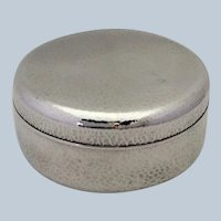 Japanese Hammered Box Signed 950 Silver
