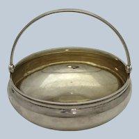Russian Small Swing Handle Sterling Sugar Bowl