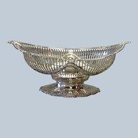 "Gorham Pierced Footed Bowl Sterling Ornate 10 1/2"""