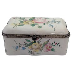 "Veuve Perrin Floral Box 5"" Antique"