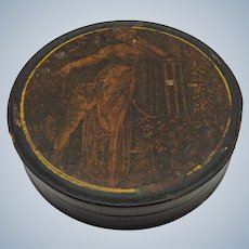 Snuff Box Paper Mache French 19th c.