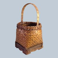 "Antique Chinese Basket 8 3/4"""