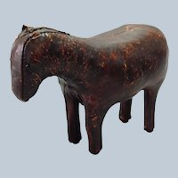 """Leather Horse Mid Century Small 8 1/2"""""""
