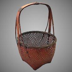 """Japanese Antique Basket 11 1/2"""""""