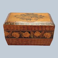 Tunbridge Ware Tea Caddy 19th c.