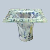 "Art Glass Vase Mid-Century Georgia 7"""