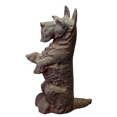 Old Cast Iron Schnauzer Door Stop