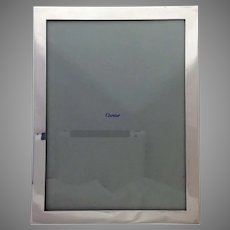 """Cartier Sterling Handmade Picture Frame 6.5"""" by 8.5"""""""