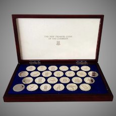 The New Treasure Coins of the Caribbean 1988 Proof Set Twenty Five Dollar Silver Coins