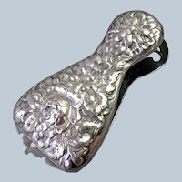 Repousse Paper Clip Sterling Silver Antique
