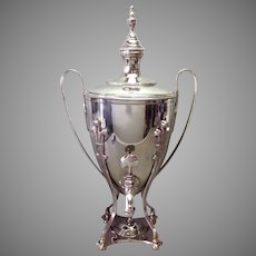 Large Silverplate Tea Hot Water Urn