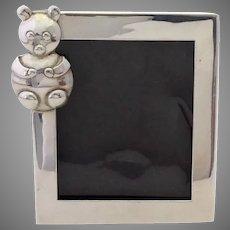 Teddy Bear Sterling Frame Handmade Leonore Doskow
