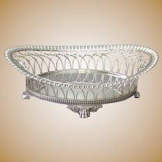 Tiffany Wirework Bread  Basket Silver Plate c. 1900