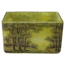 Daum Frères Green Landscape Vase 1910