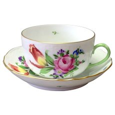 Herend Printemps Flat Cup and Saucer