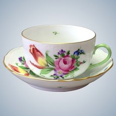Herend Printemps Flat Cup and Saucer