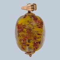 Venetian Glass Egg Charm or Pendant 14K