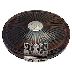 Queen Anne Shell Snuff Box Sterling Dated 1701