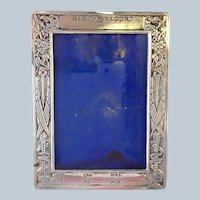 """Birth Record Frame Stork Sterling Never Engraved! 3"""" by 4"""""""