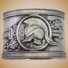 Medallion Helmet Coin Silver Napkin Ring 1860