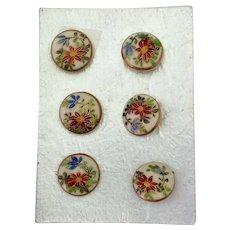 Card Satsuma Buttons Set of 6