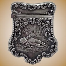 Sterling Cupid Sleeping Unger Stamp Box