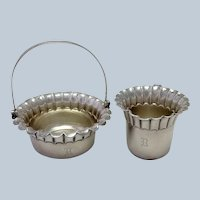 Victorian Gorham Sugar and Creamer Basket 1881
