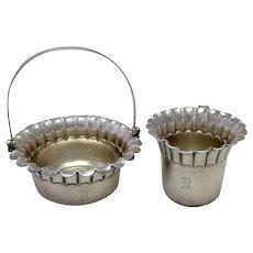 Victorian Gorham Sugar and Creamer Basket 1881