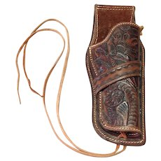 "Cowboy Colt 6"" Barrel Holster Hand Tooled Leather"