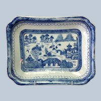 Canton Platter Antique Chinese  9""