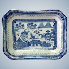 """Canton Platter Antique Chinese  9"""""""