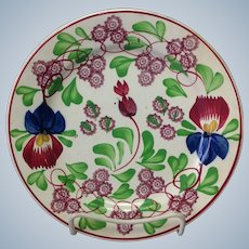 Stick Spatter Floral Plates W. Adams and Sons 1820's