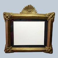 """Cherub Frame Brass Vintage 15"""""""