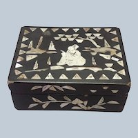 Chinese Box with Mother of Pearl Inlay 19th c