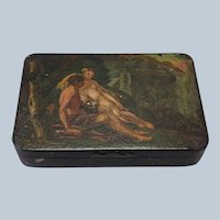 Snuff Box Adam and Eve Tole 19th C.