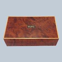 Burled Mahogany Petite Box 19th c