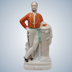 "Large Garibaldi Staffordshire 19"" Figure 19th c"