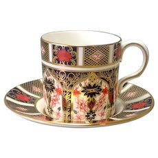 Royal Crown Derby Old Imari Demitasse Cup And Saucer