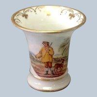Hunter Mini Spill Vase Painted Scene