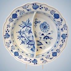 "Meissen Blue Onion Pattern 13 3/4"" Divided Serving Dish"