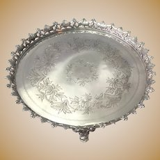 Portuguese 800 Silver Footed Salver 19th c