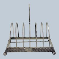 Toast Rack Gorham Sterling Circa 1876
