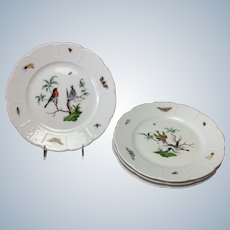 """Les Oiseaux Salad Plate Ceraline China Bugs and Birds 7.5"""""""