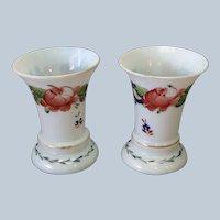 Pair Bristol Floral Spill Vases 19th.