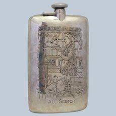 All Scotch Sterling Flask R. Blackinton 1920's