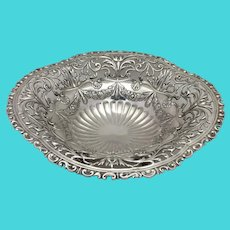 Gorham Sterling Pierced Footed Bowl 19th c.