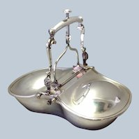 English Silverplate Mechanical Biscuit Dish 19th c.