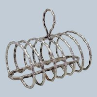 English Silverplate Toast Rack 1900