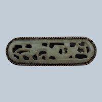 Chinese Jade Brooch Circa 1900
