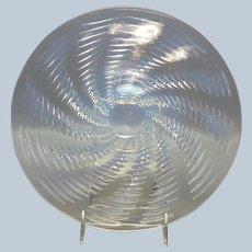"""R Lalique Ondes Plate 10 7/8"""""""